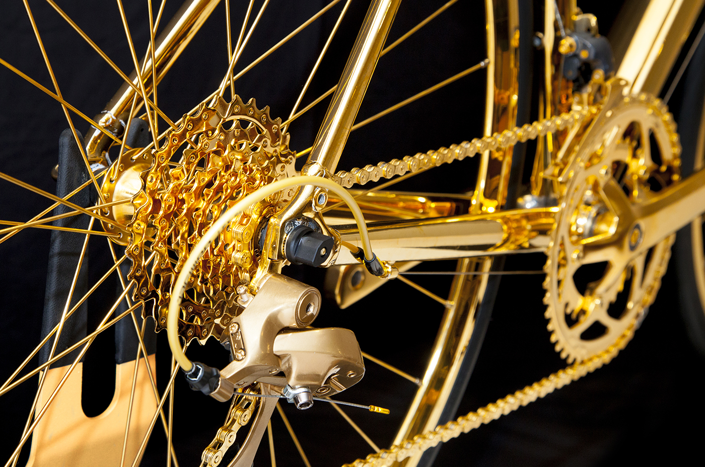 Gold plated bicycle