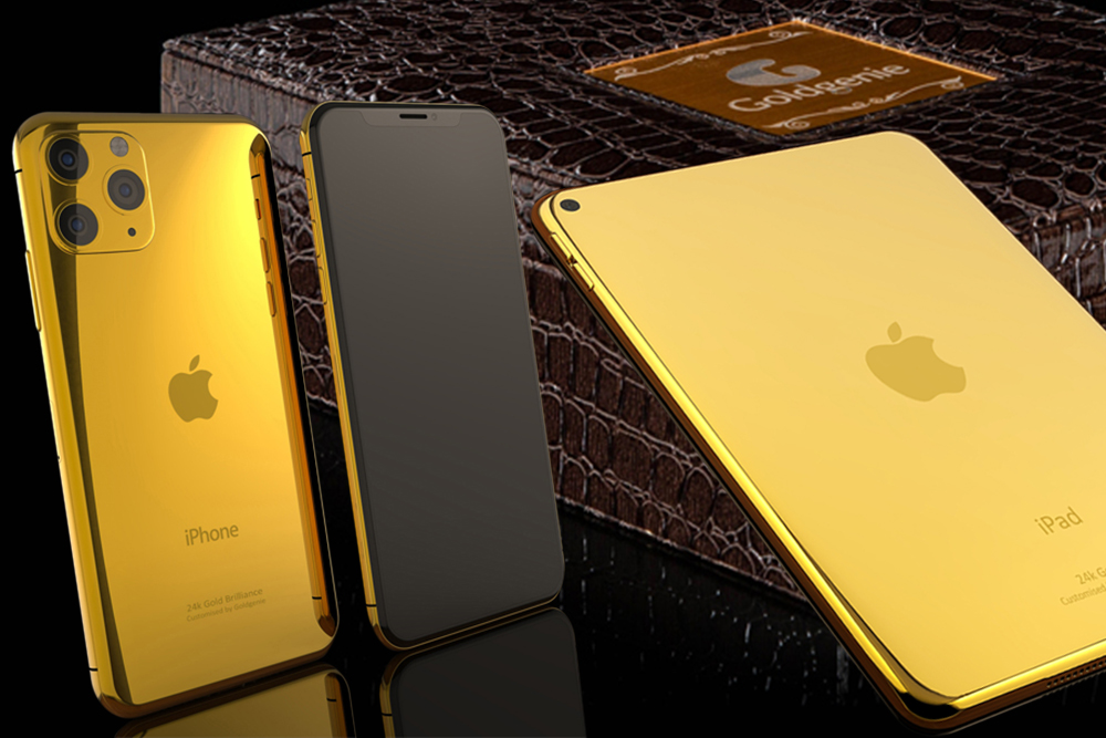gold iPhone 11 iPad