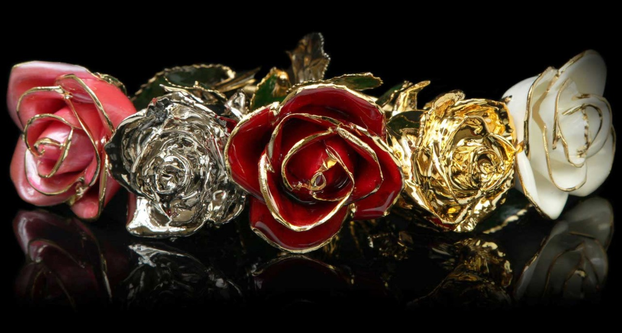 Gold & Platinum Roses